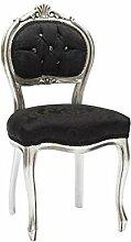 MAXIOCCASIONI Barock-Stuhl aus Holz Silber und