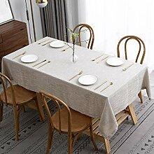 maxmill Flaxy Leinen-Tischdecke mit zweifarbiger