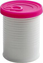 Maxwell & Williams VC6210 CANister Vorratsdose mit Silikondeckel 500 ml, Geschenkbox, Porzellan/Silikon, weiß/rosa