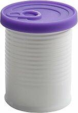 Maxwell & Williams VC6212 CANister Vorratsdose mit Silikondeckel 500 ml, Geschenkbox, Porzellan/Silikon, weiß/lila