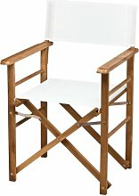 Maxx Holz-Regiesessel Kunststoffgewebe - weiß