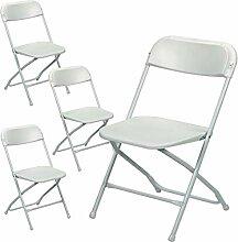 Maxx Klappstuhl Set - 4X Faltbarer Stuhl,
