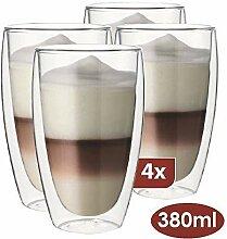 Maxxo Doppelwandige Gläser Laté Macchiato Set 4X