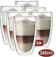 Maxxo Doppelwandige Gläser Laté Macchiato Set 6X