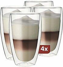 MAXXO Doppelwandige Gläser Latte Macchiato Set 4X