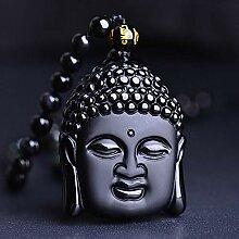 Mayanyan Natürliche Obsidian Stein Kopf Anhänger