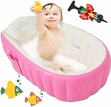 Maydolly Aufblasbare Baby-Badewanne, rutschfest,