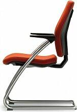 Mayer Sitzmöbel Besucherstuhl Modell SEDNA Schwingsessel chrom Bezug 26367