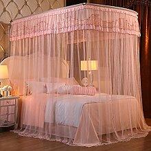Mayihang Moskitonetz 1,8 m Doppelbett Haushalt Halterung für Boden Bed Net, Fontainebleau Jade (PMC007), 2,0 m (6,6 Fuß) Bed