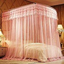 Mayihang Moskitonetz 1,8 m Doppelbett Haushalt Halterung für Boden Bed Net, Provence Rosa (PMC001), 2,0 m (6,6 Fuß) Bed