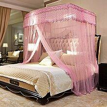 Mayihang Moskitonetz 1,8 m Doppelbett Haushalt Halterung für Boden Bed Net, Nebel, 2,0 m (6,6 Fuß) Bed