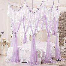 Mayihang Moskitonetz Die Prinzessin Wind ist das Saugen die Top Haushalt Moskitonetz in Europa, Violett, 2,0 m (6,6 Fuß) Bed