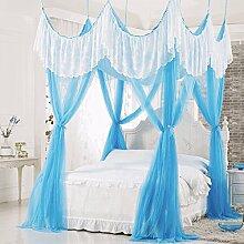 Mayihang Moskitonetz Die Prinzessin Wind ist das Saugen die Top Haushalt Moskitonetz in Europa, Blau, 1,5 m (5 Fuß) Be