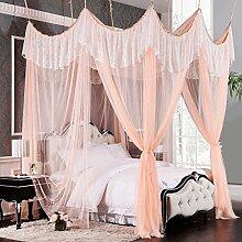 Mayihang Moskitonetz Die Prinzessin Wind ist das Saugen die Top Haushalt Moskitonetz in Europa, Sweet Orange, 2,0 m (6,6 Fuß) Bed