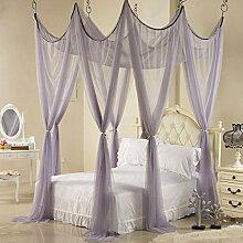 Mayihang Moskitonetz Ehe Moskitonetz 1,8 m Doppelbett Familie Mutter Bett ohne Installation von verschlüsselten Decke Palace Moskitonetz, James Gray, 1,8 * 2,2 m Be