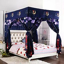 Mayihang Moskitonetz Haushalt Bett Vorhang Staubdicht Dach Nachweis Schatten Tuch Schlafzimmer mit Doppelbett 1,5 m 1,8 m Bett Moskitonetz, der helle Stern (Bett Vorhang 25 Mm), 1,35 m (4,5 Fuß) Bed