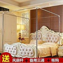 Mayihang Moskitonetz Haushalt Bett Vorhang Staubdicht Dach Nachweis Schatten Tuch Schlafzimmer mit Doppelbett 1,5 m 1,8 m Bett Moskitonetz, müssen 30 mm Halterung aus Edelstahl mit 20 Yuan, 1,2 m (4 Fuß) Be