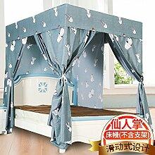 Mayihang Moskitonetz Haushalt Boden Vorhang Schlafzimmer 1,5 Meter Voll geschlossenen Bett Erwachsener Mantel, Kaktus-Gerüst, 1,5 m (5 Fuß) Be