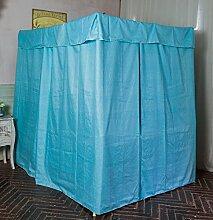 Mayihang Moskitonetz Home Bett Vorhang Ausführung, Staubdicht Dach Tuch Schild Windschutzscheibe gegen Kälte-, Kälte-, Weiße Punkte, 1,5 m (5 Fuß) Be
