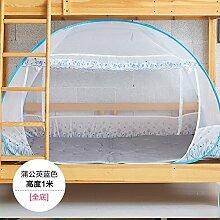 Mayihang Moskitonetz Mini Zimmer Mutter Bett Moskitonetz kostenlose Installation der Mongolei Tasche mit drei Türen 1.0M1.2M Studentenwohnheim oberen und unteren Koje, 1,0 m (3,3 Fuß) Bett, 1,5 m (5 Fuß) Be