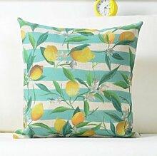 MAYUAN520 Zierkissen Frische Pflanze Zitrone