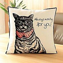 MAYUAN520 Zierkissen Kissen Hauskatzen Emoji