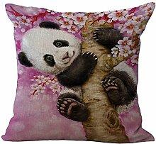 MAYUAN520 Zierkissen Von Hand Bemalt Tierische Süße Katze Panda Bedruckte Bettwäsche Dekorativer Kissenbezug Kissenbezug Home Bett Werfen Kissenbezug Großhandel, 450 Mm * 450 Mm, 5.