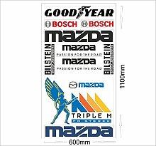 Mazda Logo Autoaufkleber Sponsoren Marken Aufkleber Decals Tuning Sticker Se