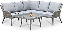 Maze Rattan Florenz Ecke Gruppe, Mixed Grau, 75x 194x 80cm