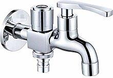 mazhant Messing Waschmaschine Wasserhahn Doppel