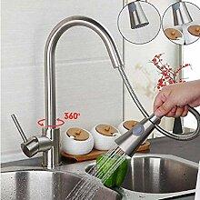 mazhant Vollmessing Küchenarmatur Warm- Und