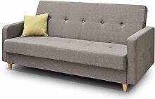 mb-moebel Couch mit Schlaffunktion Sofa Schlafsofa