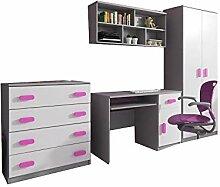 mb-moebel Moderne Wohnwänd Kinderzimmerschrank