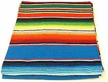 MB-Müller Original Mexikanische Decke mit Blauen