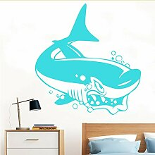 Mbambm Unterwasserwelt Wandaufkleber Fish Shark