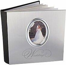 MBI Kunststoff Silber Hochzeit Fotoalbum 23,5cm