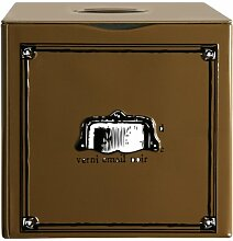 MBM 038101 Teedose mit Schubfach, Braun