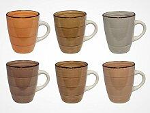 MC Trend 6er Set Kaffeebecher - harmonische Farben