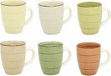 MC Trend 6er Set Kaffeebecher Tassen Pott Geschirr