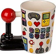 MC Trend Becher Tasse Game Over Joystick-Griff
