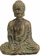 MC Trend Buddha Skulptur Ton Antik Gold