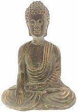 MC Trend Buddha Skulptur Ton in Antik Gold