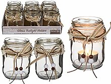 MC Trend Glas-Teelichthalter mit naturfarbenem