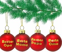 MC Trend Glas Weihnachtskugeln mit Mama - Papa -
