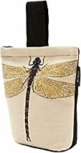 McAlister Textiles Novelty Kollektion | Bug's Life Türstopper Gelbe Libelle | gewebtes Tiermotiv Deko Türsack