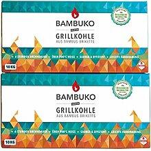 McBrikett Grillkohle Set: 20 kg BAMBUKO