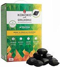 McBrikett KOKOKO Eggs Premium Grillkohle, 8 kg Bio