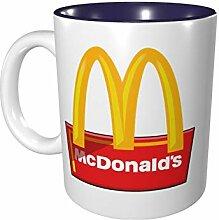 McDonalds Farbige Tasse aus Porzellan, 330 ml,