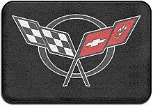 mchmcgm Die Fußmatte Door Mat Corvette-Logo