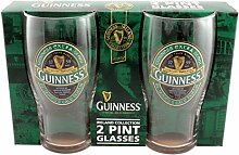 McLaughlin's Irish Shop Green Guinness Gläser